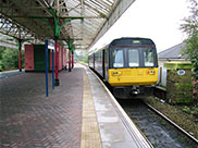 Nelson Station, our 3rd train leaves for Colne