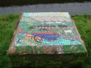 Mosaic (1 of several) by the canal