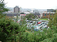 View towards Burnley town centre