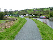 Narrow boats moored at Salterforth