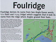 Part of a sign at Foulridge