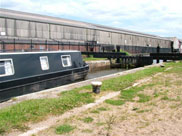 A barge at Pagefield locks