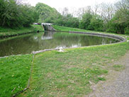 Wide stretch of canal between locks
