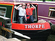 Thomas and Connor aboard 'Thorpe'