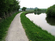 More sharp turns as the canal winds through the countryside