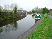 Approaching new housing on the canal