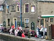 Morris Dancers at the Royal Shepherd, Skipton