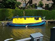 A miniature narrow boat