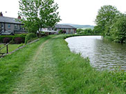 The canal winds its way out of Skipton