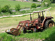 Abandoned tractor left to the elements