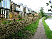 Modern canalside houses at Silsden