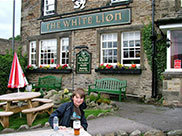 A swift pint at the White Lion in Kildwick
