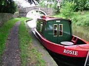 Small narrowboat named Rosie. There was a Jim nearby.