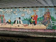 Part of a large mural underneath Shipley bridge