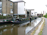 Restored canal buildings at Shipley