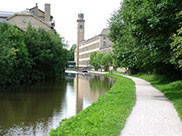 Approaching Salt's Mill at Saltaire