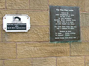 A couple of plaques at the top of Bingley Five Rise