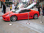A Ferrari in the centre of Leeds