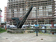 An old crane by canalside re-development