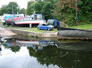Boats undergoing TLC at Newlay