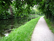 Peaceful stretch of the canal