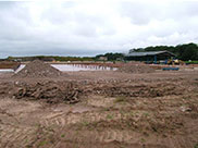 A new 200-berth marina being constructed at Scarisbrick