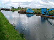 Maintenance boats at Coxhead's swing bridge
