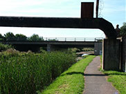 Pipe bridge and M57 motorway bridge, not numbered