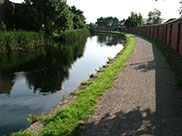 Very quiet towpath in Liverpool
