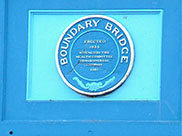 Plaque on Boundary bridge (Bridge E)