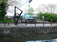 Old crane and boat at Wigan Pier