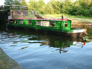 Barge on its way to Wigan
