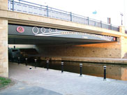 The new Henhurst Canal Bridge, Wigan, 2006