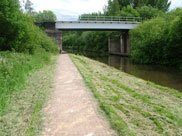 A railway bridge (Bridge 2A) crosses the canal