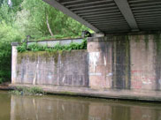 Under the railway bridge, old section removed