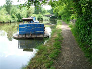 British Waterways maintenance boat at Arley