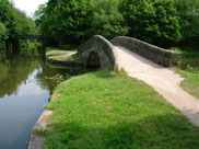 Arched towpath bridge at Haigh