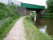 West Coast main line railway bridge at Bamfurlong