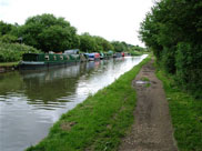 Plenty of barges moored at Parbold