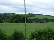 Parbold Hill in the distance