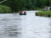 A couple of canoeists on the canal