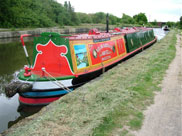 Barge moored at Abram