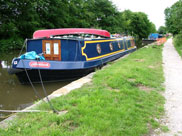 A huge canal boat