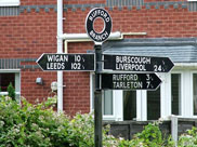 Sign post at Rufford Branch