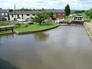 View from towpath bridge towards Rufford Branch