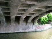 Underneath Burscough bridge