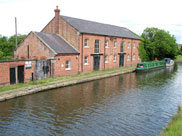 Old industrial building on canal at Burscough