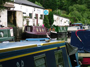 A garage for narrow boat engine service and repair