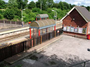 Adlington Station, complete with two bus shelters