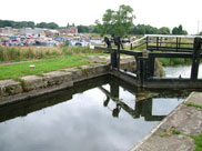 Rufford lock (No.7) and the marina